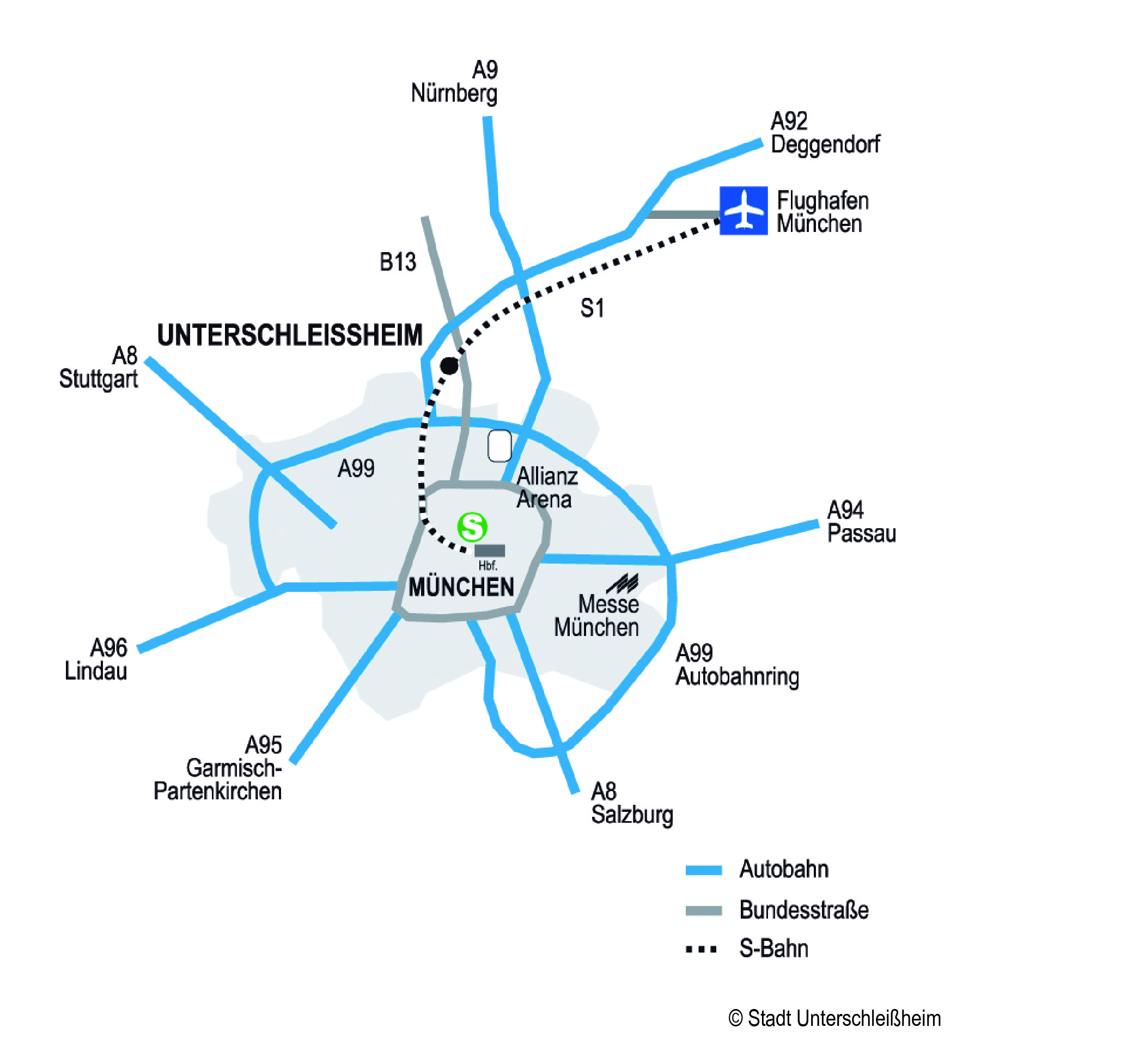 Verkehrsanbindung Stadt Unterschleissheim